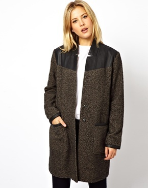 Asos Textured Block Coat