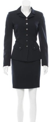 Chanel Wool Pencil Skirt Suit $525 thestylecure.com