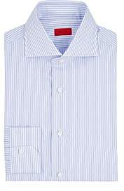 Isaia Men's Striped Cotton Poplin Shirt - Lt. Blue