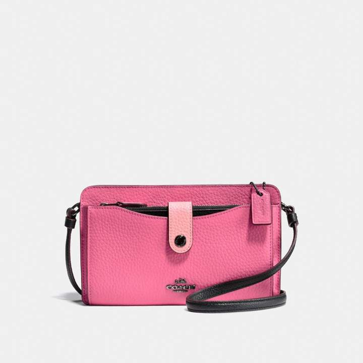 Coach New YorkCoach Pop-Up Messenger In Colorblock - BRIGHT PINK/MULTI/DARK GUNMETAL - STYLE