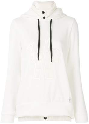 Moncler logo patch hooded sweatshirt