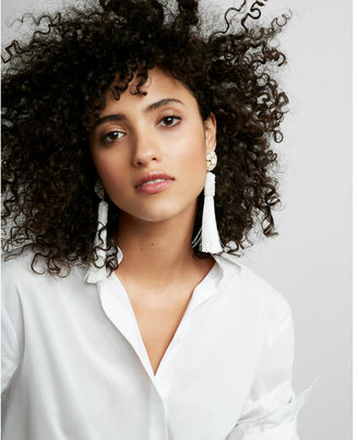 Express Tassel Post Back Earrings $29.90 thestylecure.com