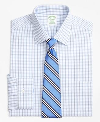 Brooks Brothers Milano Slim-Fit Dress Shirt, Non-Iron Tonal Check Windowpane