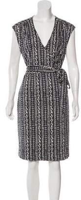 Tory Burch Printed Midi Wrap Dress