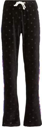 Champion Velour Wide Leg Logo Pants