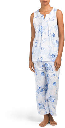 Floral Cotton Blend Capri Pj Set