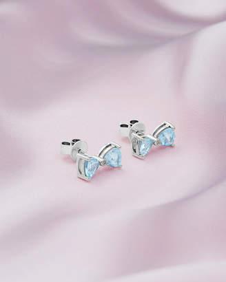 Ted Baker BIYUU 9ct white gold and blue topaz earrings