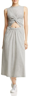 T by Alexander Wang Twist Front Knit Midi Dress $250 thestylecure.com