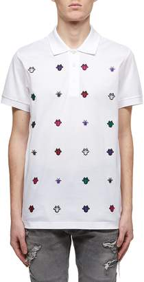 Christian Dior Multiple Embroidered Detail Polo Shirt