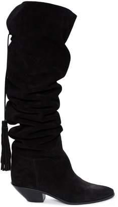 Saint Laurent ruched boots
