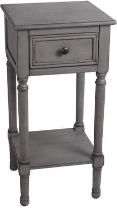 Privilege 1-Drawer Provincial Gray Accent Table