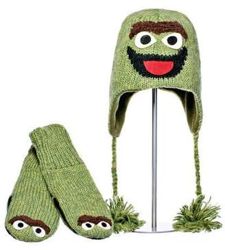 Sesame Street Delux Knitwits Oscar Mittens