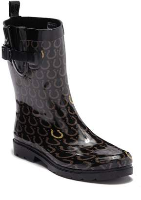 Capelli of New York Lucky Horseshoes Printed Rubber Mid Rain Boot