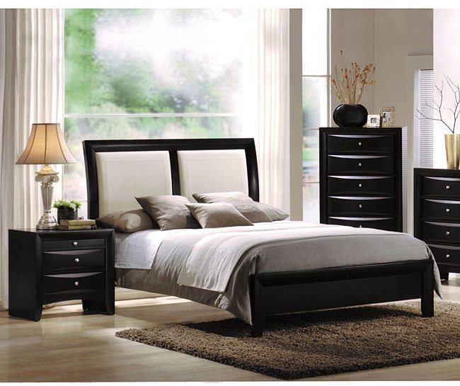 AcmeAcme Ireland White Queen Bed with Black Headboard