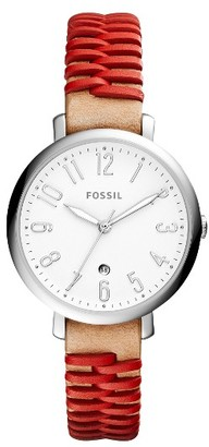 Women's Fossil Jacqueline Leather Strap Watch, 36Mm $115 thestylecure.com