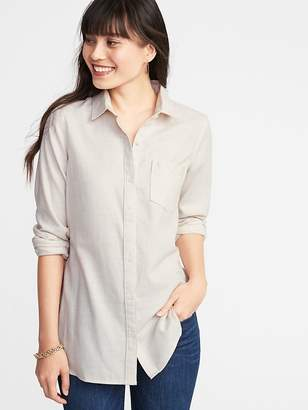 Old Navy Relaxed Twill Tunic Shirt for Women