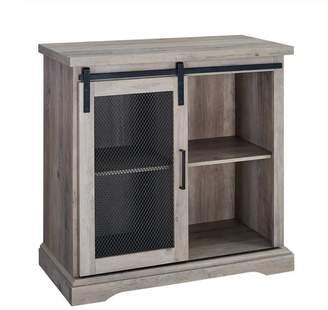 Walker Edison 32 Farmhouse Mesh Door Accent Cabinet TV Stand