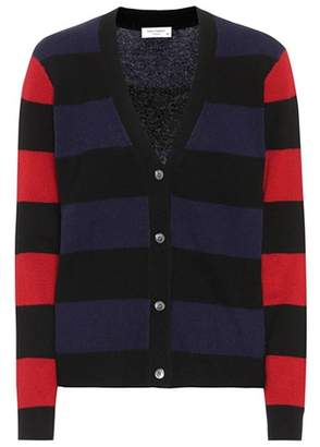 Equipment Shelly striped cashmere cardigan