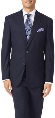 Charles Tyrwhitt Midnight Blue Slim Fit Merino Business Suit Wool Jacket Size 38