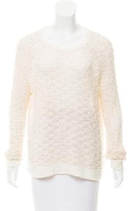 Theyskens' Theory Textured Open Knit Sweater