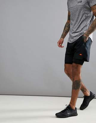 Ellesse Sport Shorts With Underlay In Black