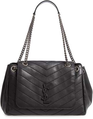 Saint Laurent Nolita Large Leather Shoulder Bag
