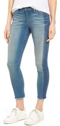 SLINK Jeans Frayed Hem Ankle Jeans