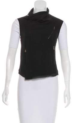 Rick Owens Silk Asymmetrical Vest