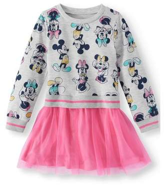 Minnie Mouse French Terry Sweatshirt & Tulle Skirt Tutu Dress (Toddler Girls)