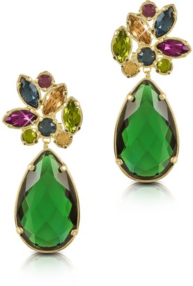 Forzieri Crystal Drop Earrings