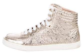 Gucci Metallic High-Top Sneakers