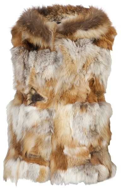 JOCELYN Fox fur vest