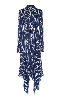 Alexis Marvella Belted Printed Georgette Midi Dress Size: XS