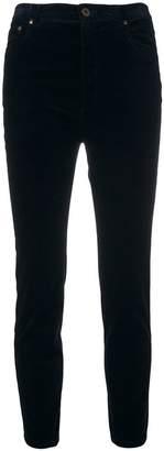 Miu Miu velvety skinny cropped trousers