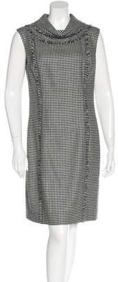 Oscar de la Renta Virgin Wool Houndstooth Dress