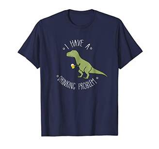 I Have A Drinking Problem T-Rex Beer Mug T-Shirt Dino Puns