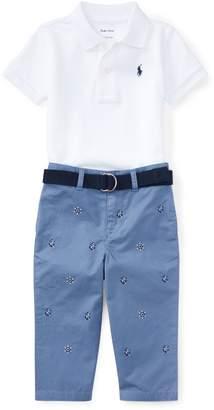 Ralph Lauren Cotton Polo, Belt & Chino Set