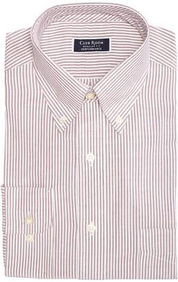 Club Room Men's Classic/Regular Fit Stretch Wrinkle-Resistant University Stripe Dress Shirt