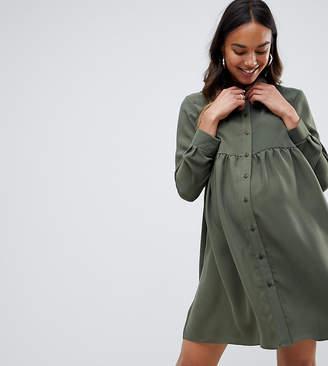 Asos (エイソス) - Asos Maternity ASOS Maternity Smock Shirt Mini dress with long sleeves