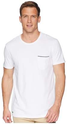 Lacoste Colours Short Sleeve Pocket Sleep Tee Men's Pajama