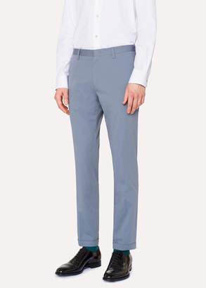 Paul Smith Men's Slim-Fit Light Blue Stretch-Cotton Pants