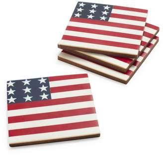 Sur La Table American Flag Coasters, Set of 4