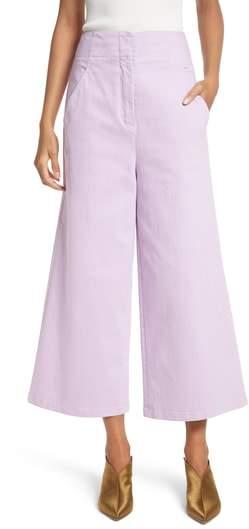 Wide Leg Crop Denim Pants