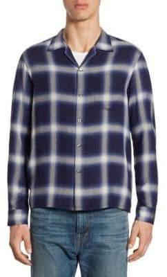 Vince Plaid Cotton Shirt