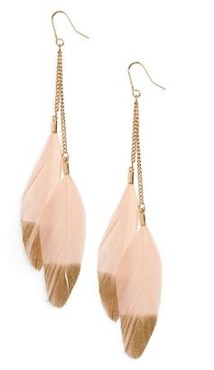 Women's Panacea Feather Earrings $18 thestylecure.com