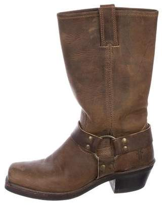 Frye Distressed Leather Mid-Calf Boots