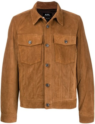 A.P.C. buttoned leather jacket