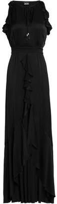 Just Cavalli Ruffled Satin Maxi Dress