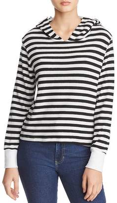 LnA Cameron Brushed Striped Hooded Sweatshirt