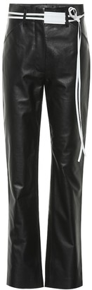 Victoria Beckham High-rise straight leather pants